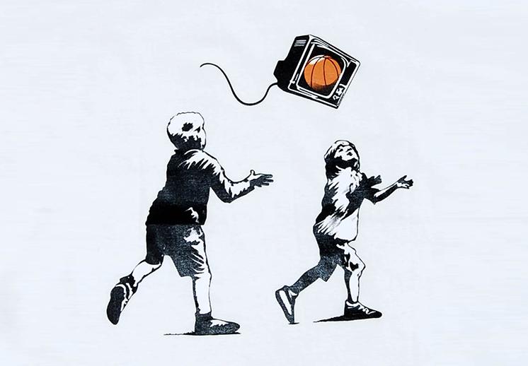¿Banksy en el basquetbol?