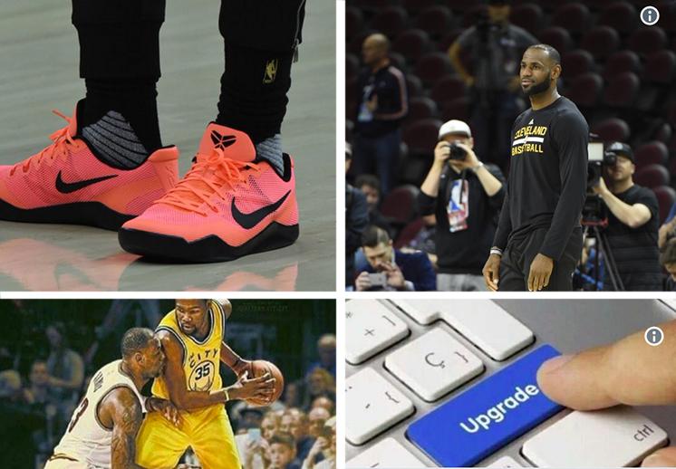 los tenis de LeBron James en las finales de la NBA por viva basquet