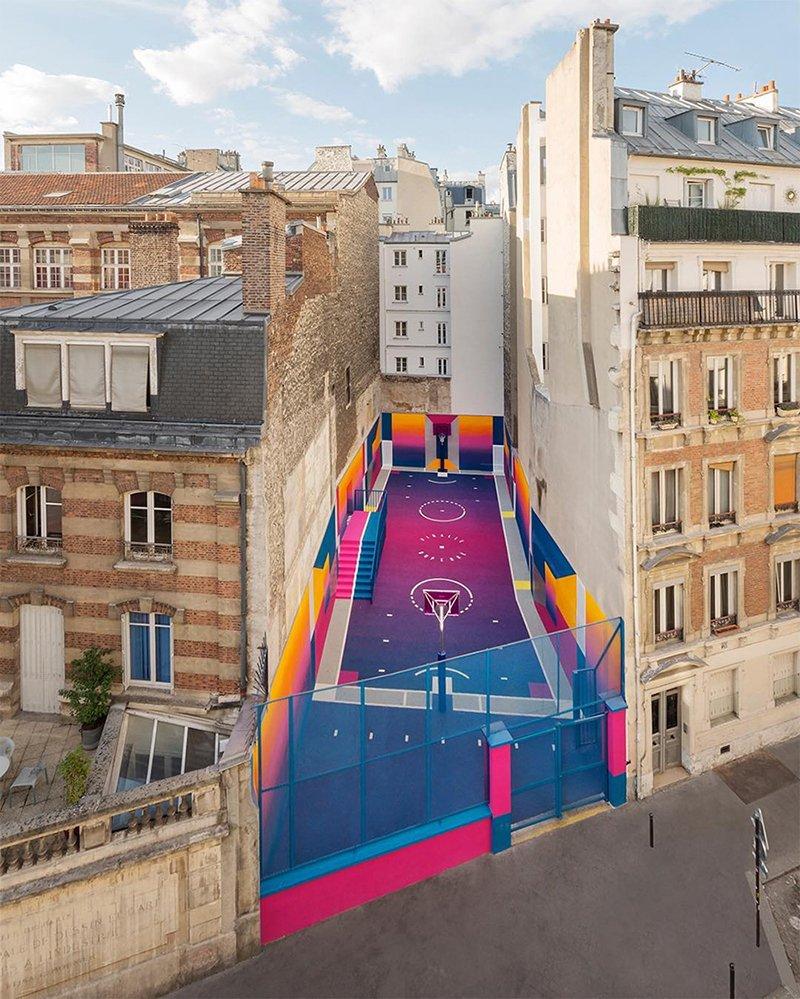 Surge una nueva cancha technicolor en Paris diseñada por Pigalle foto 10