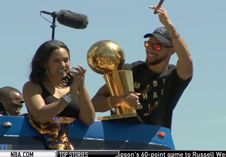 Los Warriors de Golden State festejaron su campeonato