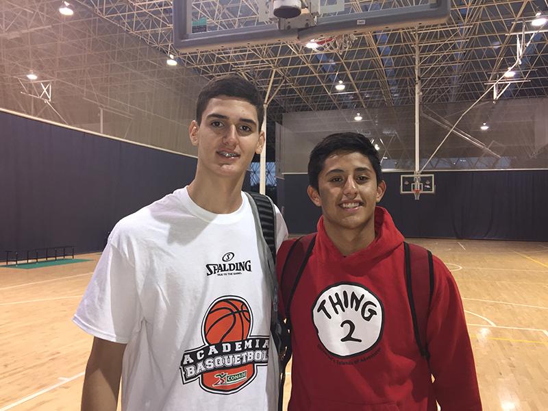 Sebastian Reynoso y Moises Andriassi. El talento mexicano del Basketball Without Borders 2017