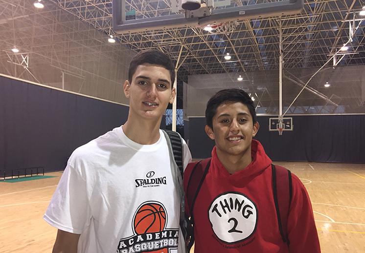 Sebastian Reynoso y Moises Andriassi. El talento mexicano del Basketball Without Borders 2017 foto 2