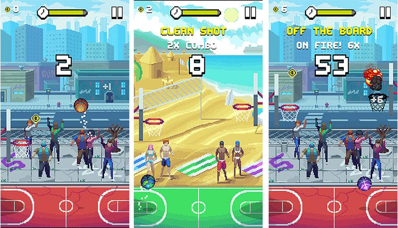 Bouncy Hoops app de básquet bol recomendada por viva basquet