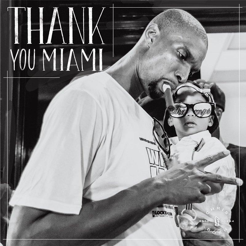 Chris Bosh se despidió de Miami con una emotiva carta