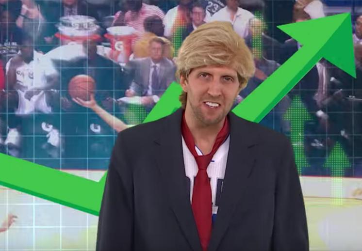 Tres minutos de diversión cortesía de Dirk Nowitzki