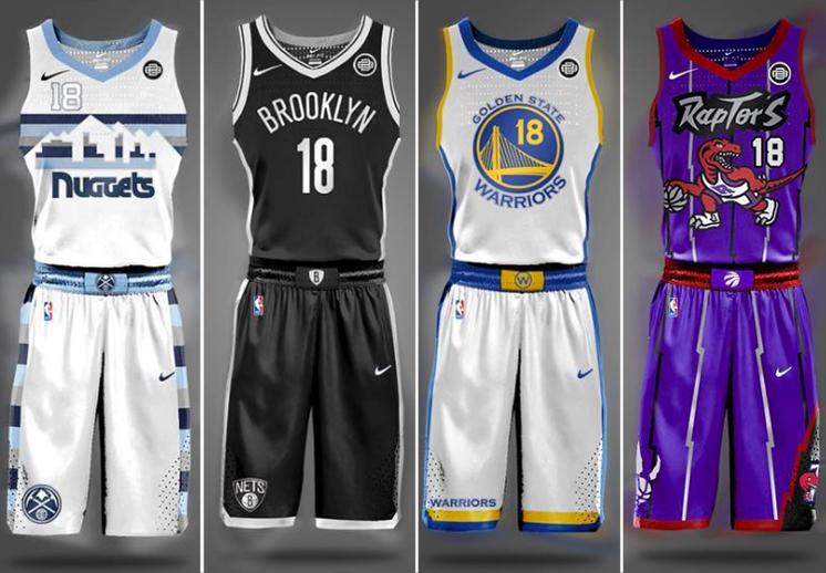 Como deberían ser los uniformes de la NBA según Brian Begley