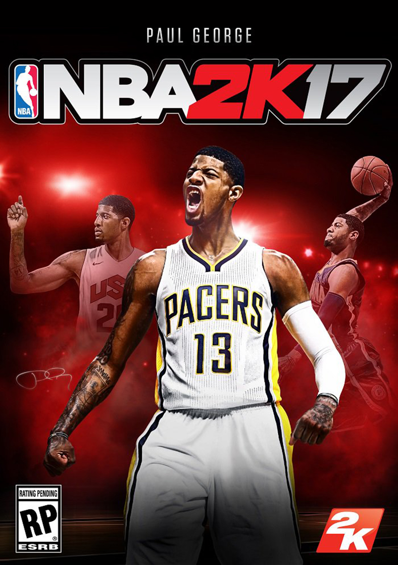 NBA 2K17 Paul George en la portada
