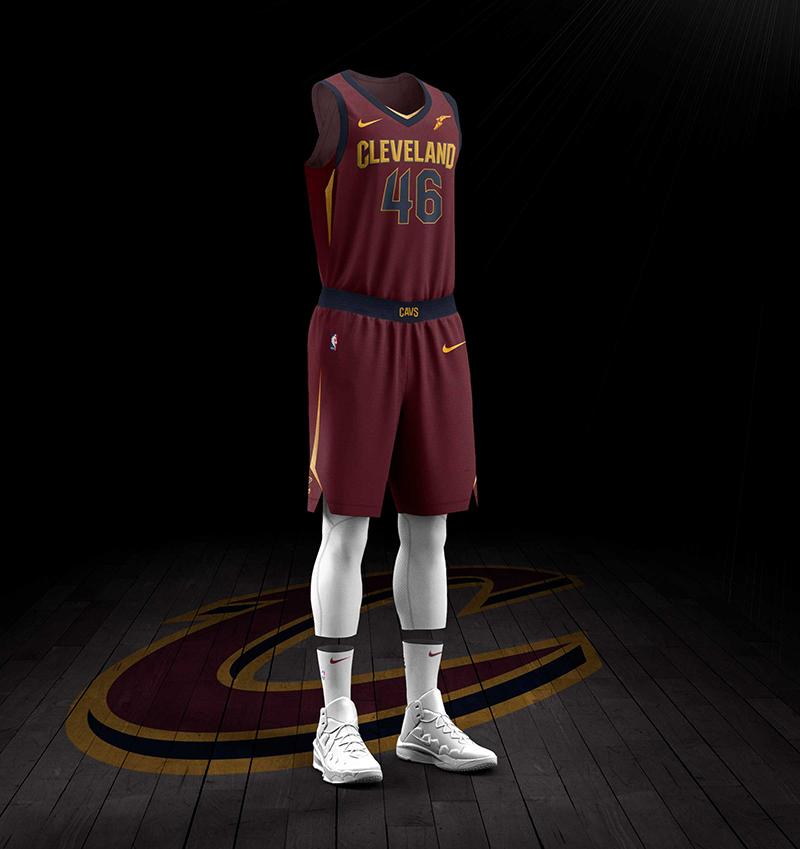 nuevo jersey color vino nike de los Cavaliers