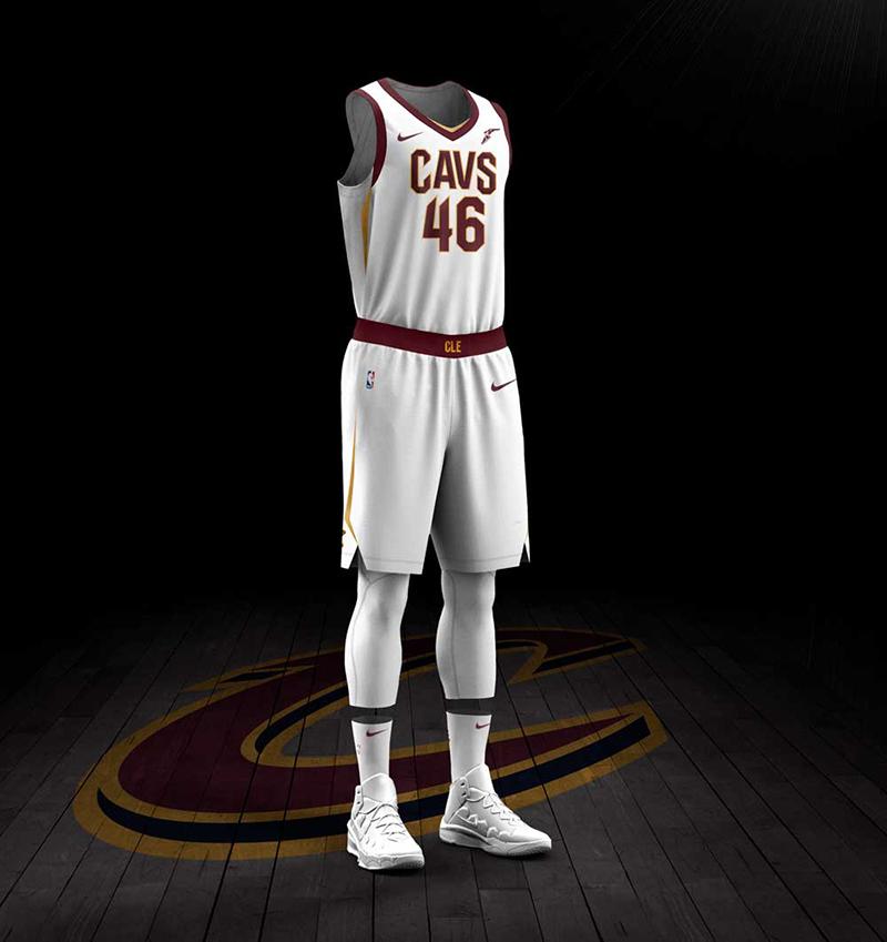 nuevo jersey blanco nike de los Cavaliers