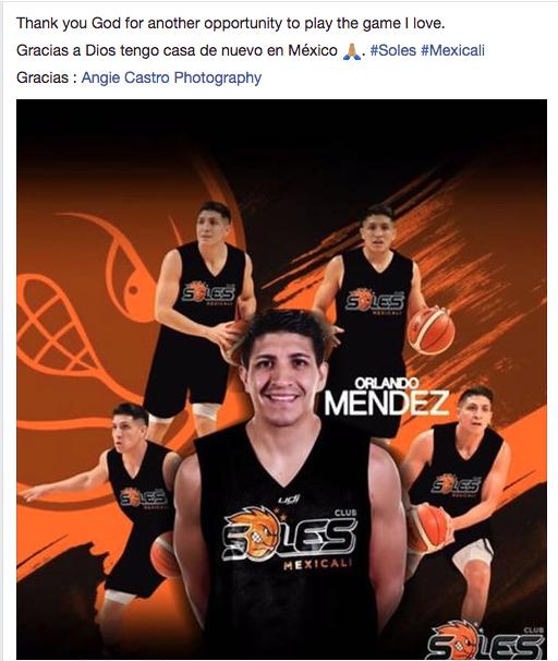 Orlando Méndez es nuevo jugador de Soles