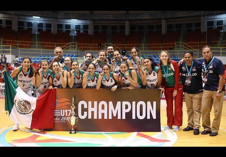México se colgó el oro en el Centrobasket Femenil U17