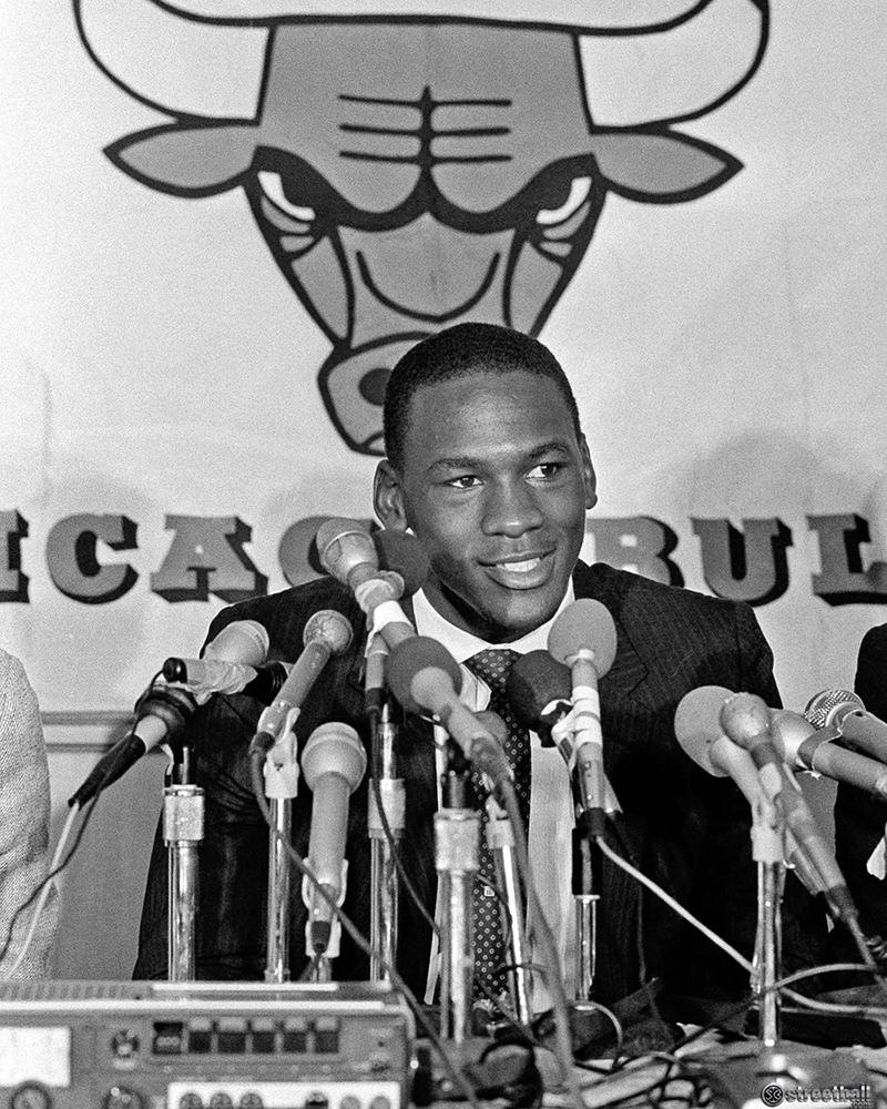 Michael Jordan en el sorprendente Draft de 1984