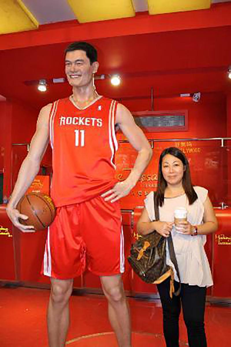 La figura de cera de Yao Ming