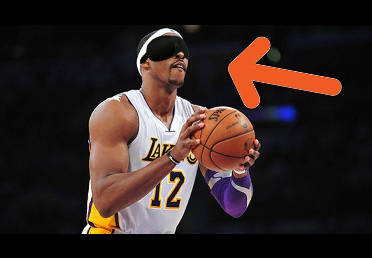 NBA no look shot