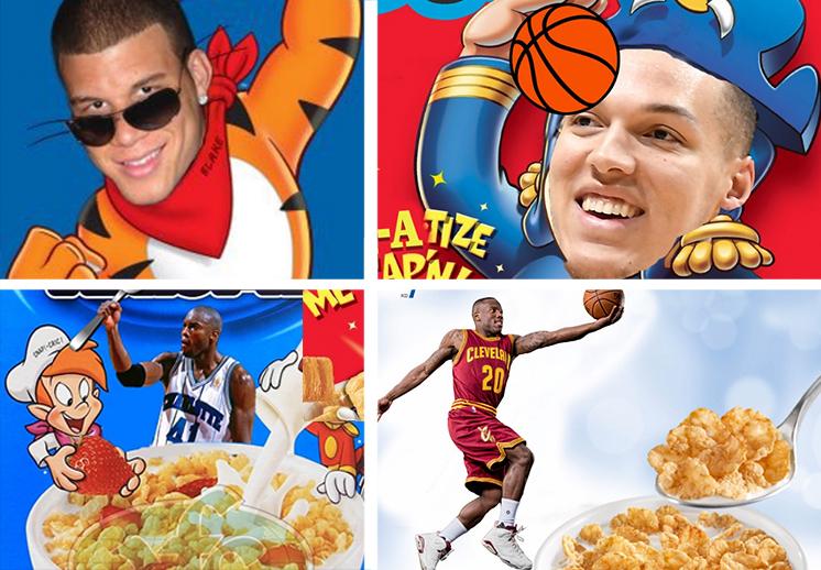 La batalla de los cereales de la NBA