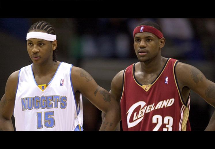 El inicio de dos estrellas de la NBA, lebron james y carmelo anthony foto 2