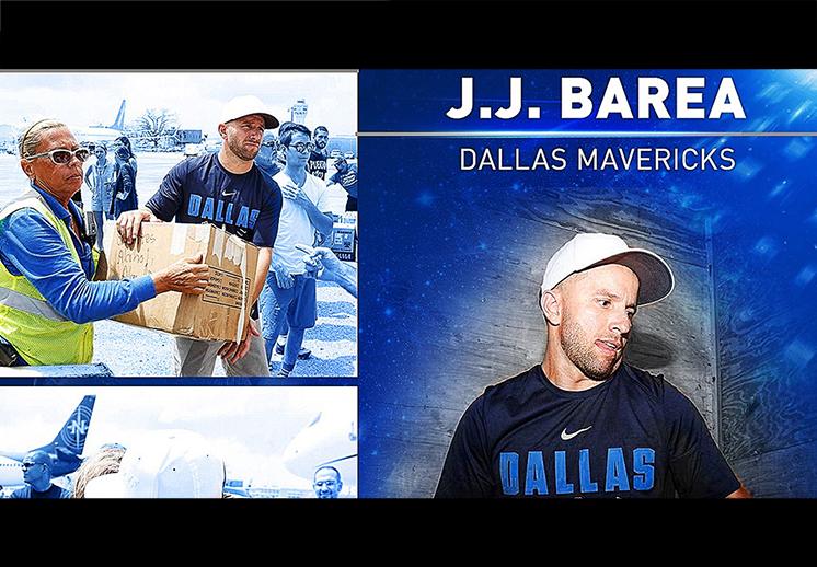 NBA reconoce la labor social de J.J. Barea
