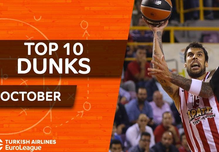 Los mejores dunks del mes en la Euroleague