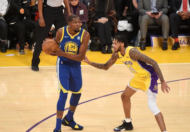 Kevin Durant amargó la fiesta de los Lakers