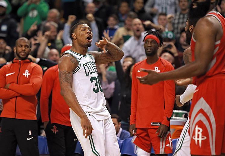 Marcus Smart le hizo la travesura a los Rockets