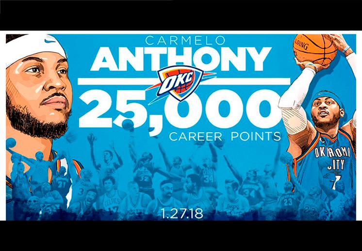 Carmelo Anthony da otro paso a la inmortalidad