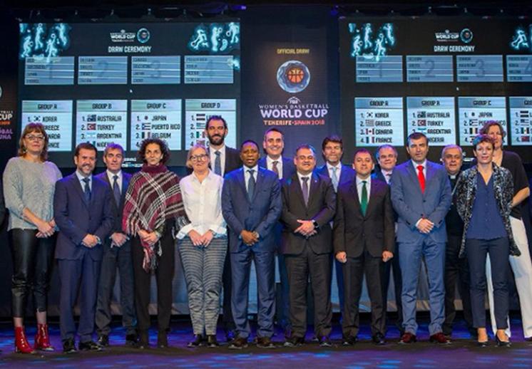 Definen grupos del Mundial Femenil FIBA 2018