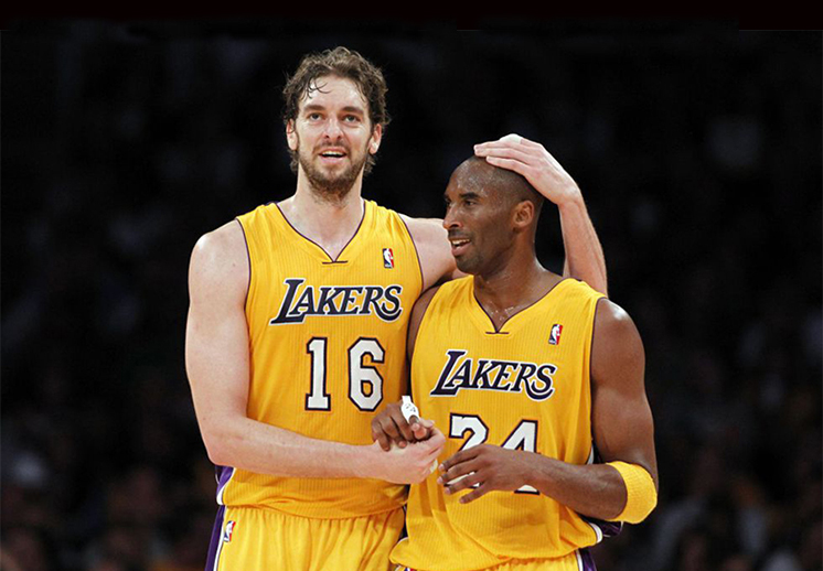Kobe Bryant ve a Pau inmortalizado en el Staples Center