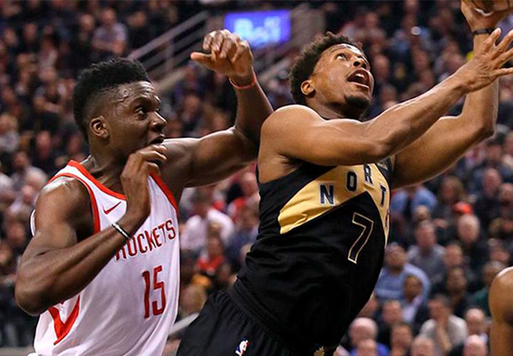 Duelo de poder entre Raptors y Rockets