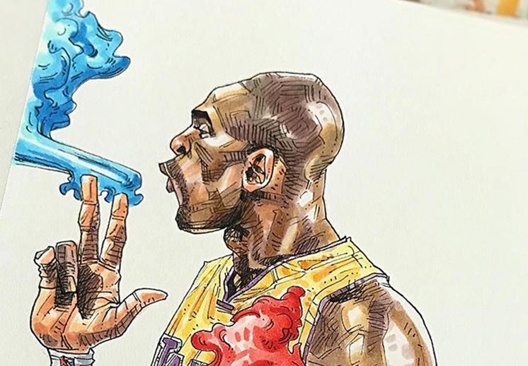 Dai Tamura el ilustrador de la NBA
