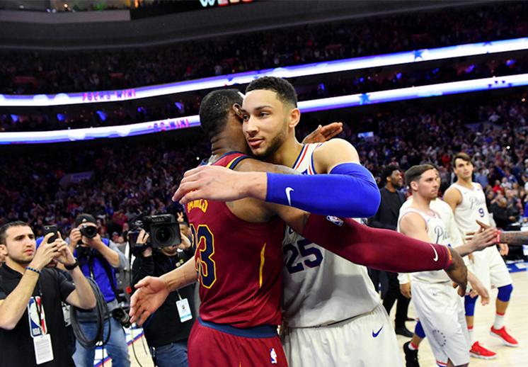 El duelazo entre LeBron James y Ben Simmons
