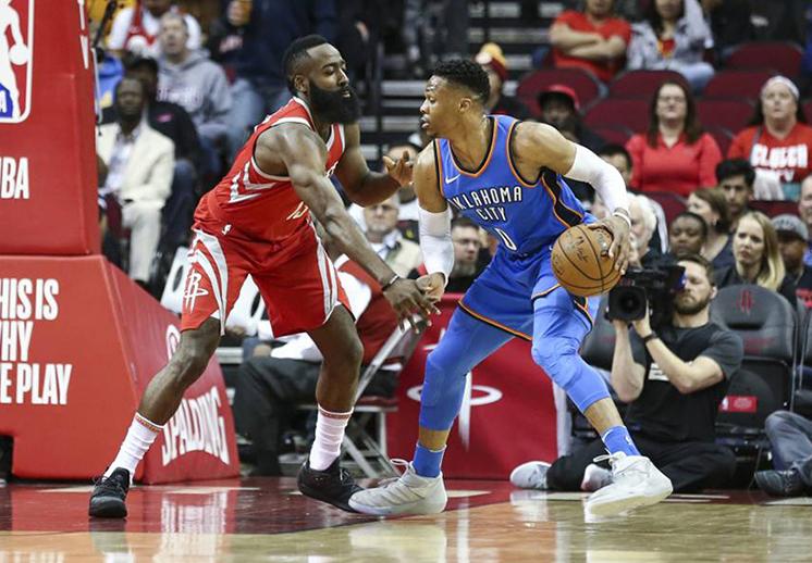 El Thunder mostró su poder a los Rockets