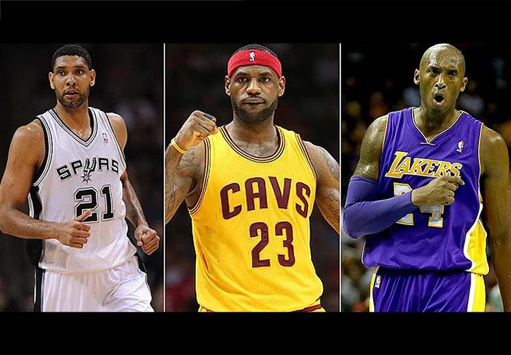 El dominio de Duncan, Kobe y LeBron en las Finales
