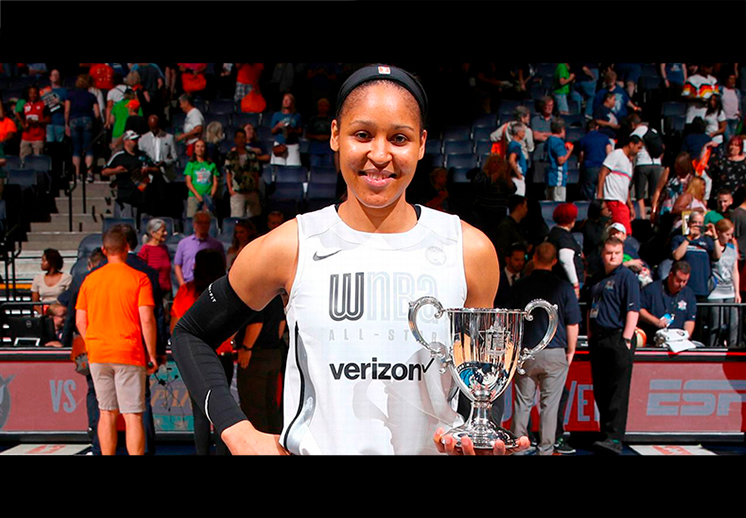 Maya Moore se robó el All Star Game de la WNBA