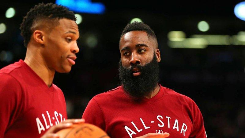 Westbrook y Harden se reunieron para un partido muy especial