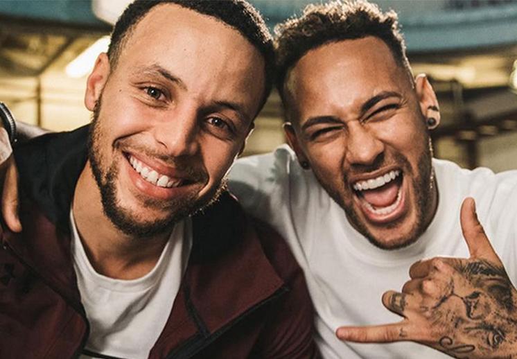 La amistad de Curry y Neymar