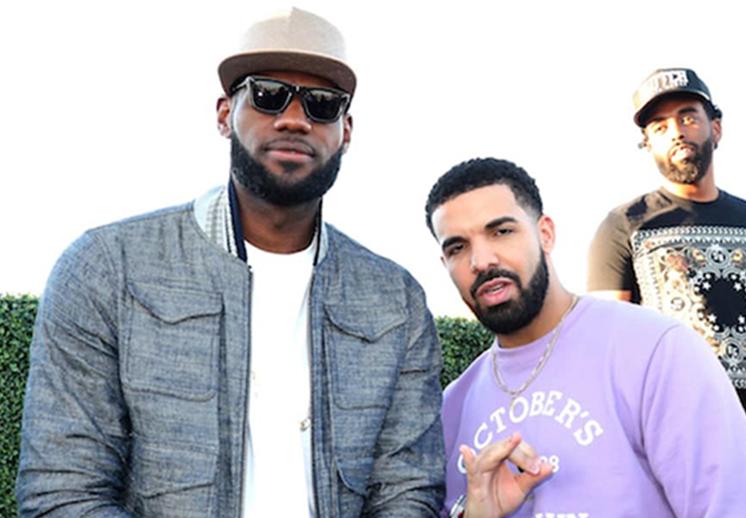 Drake y LeBron comparten escenario