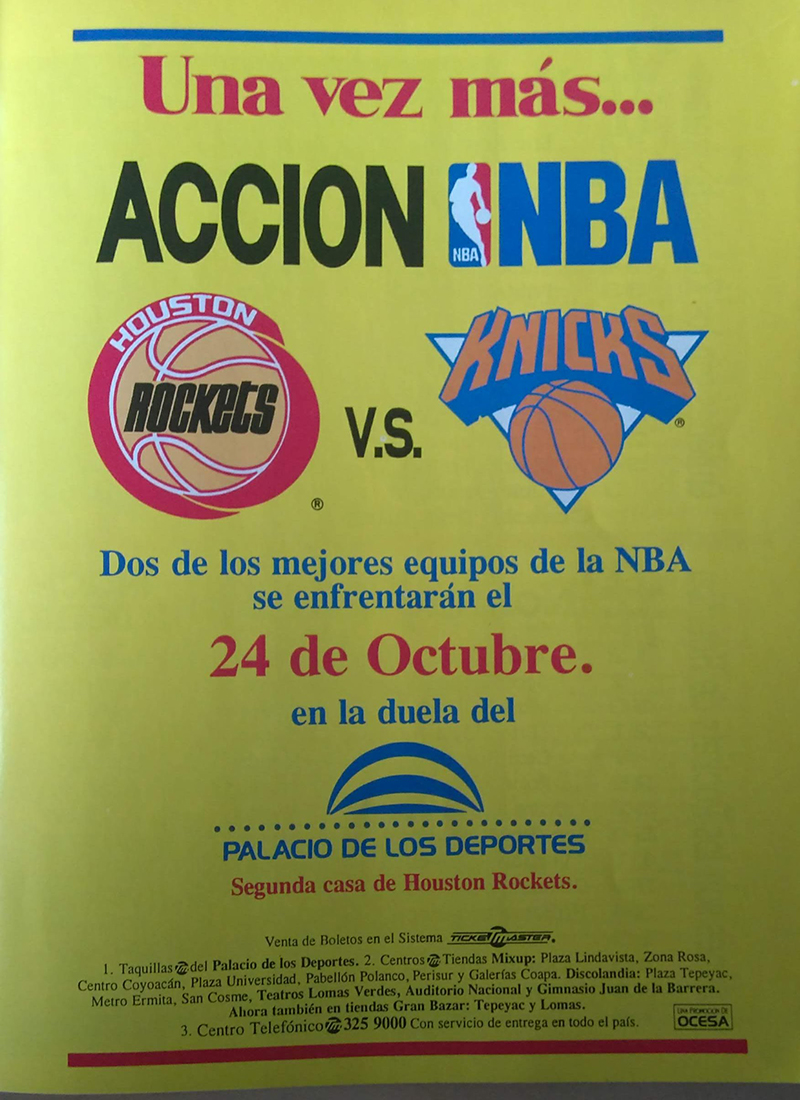 Rockets vs Knicks, una final NBA en la Ciudad de México