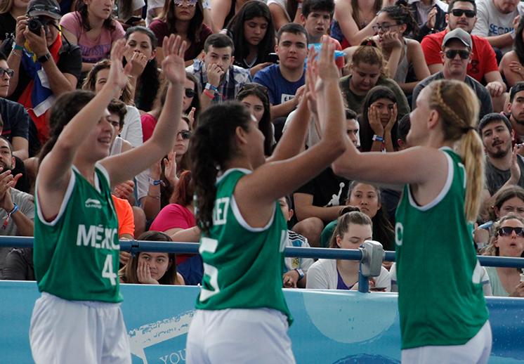 Victorias para México en el 3x3 de los Juego Olímpicos de la Juventud