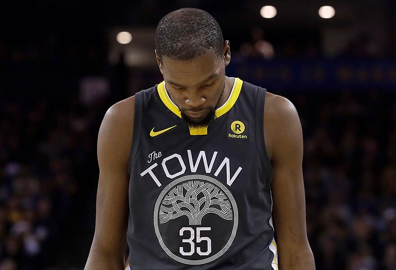 Tensión entre los Warriors y Kevin Durant