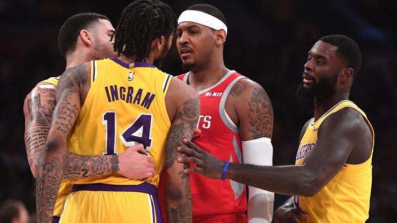 Los castigados de la pelea entre Rockets y Lakers