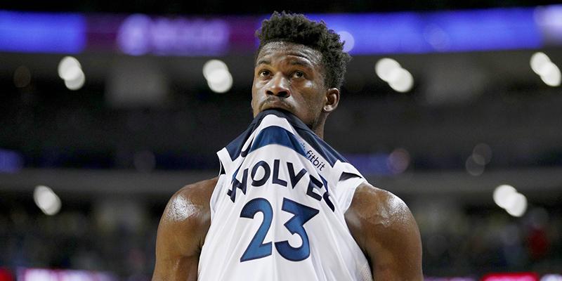 Jimmy Butler le armó un berrinche a lo Timberwolves
