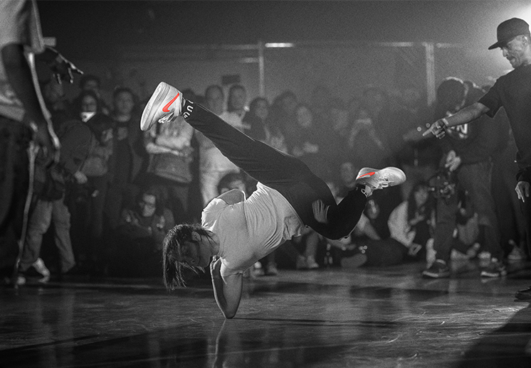 Breakdance y basquetbol