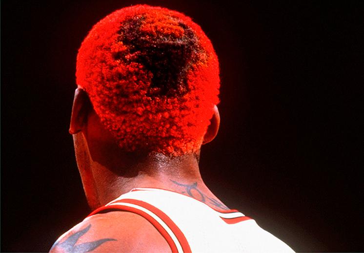Los rebotes de Rodman por color de pelo