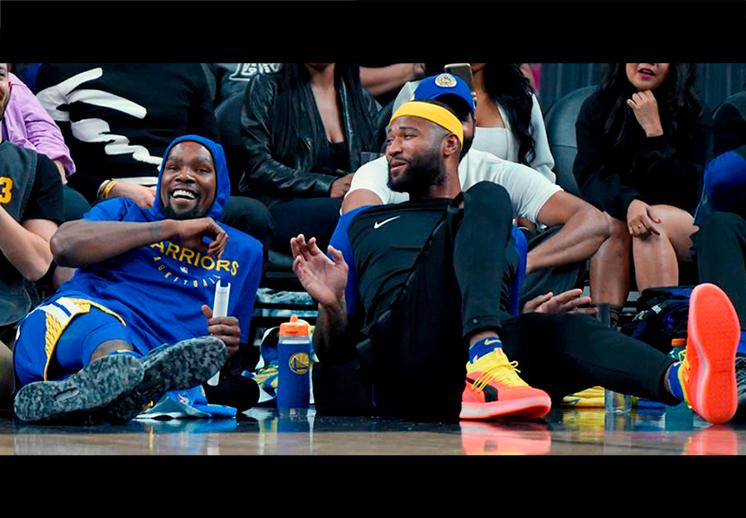 El mano a mano entre DeMarcus Cousins y Kevin Durant