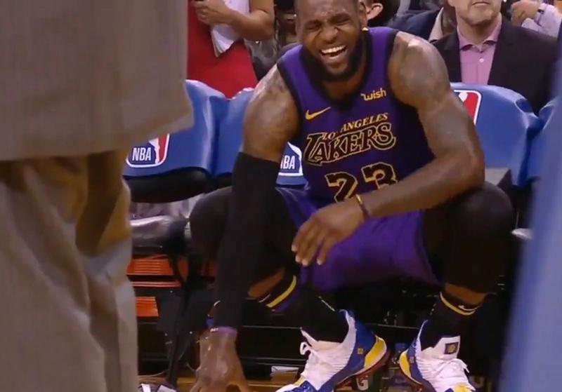 Así fue la lesión de LeBron James