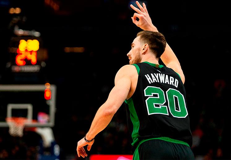 Gordon Hayward y su mejor partido con los Celtics