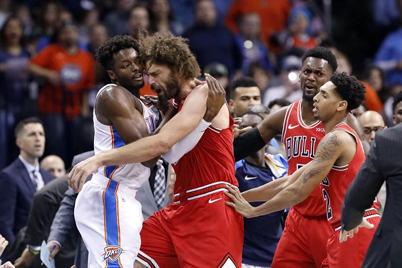 Bulls y Thunder protagonizan zafarrancho