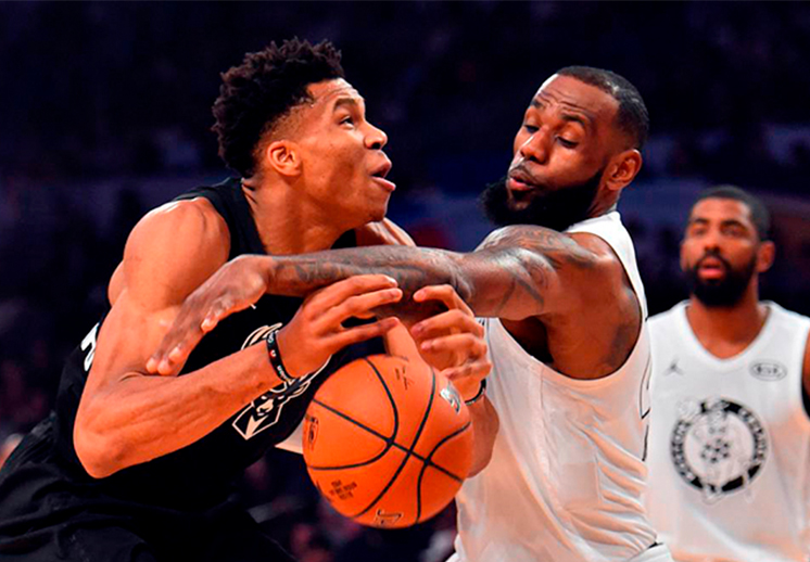 LeBron y Giannis serán los capitanes en el All-Star Game