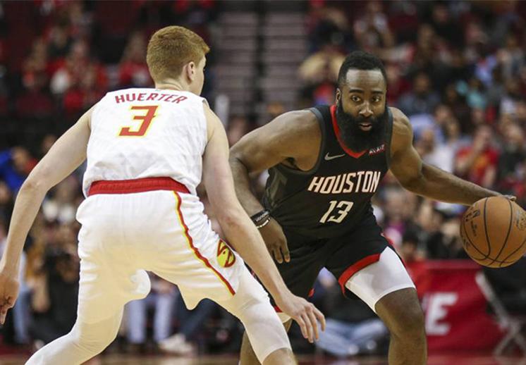 Los Hawks lograron parar a Harden, pero no a los Rockets