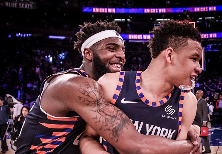 Domingo redondo para los aficionados de los Knicks